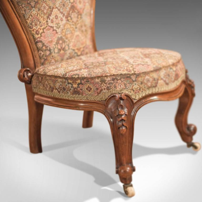 Upholstery 19th Century Antique Nursing Chair, English Regency, circa 1820  For Sale - 19th Century Antique Nursing Chair, English Regency, Circa 1820 For