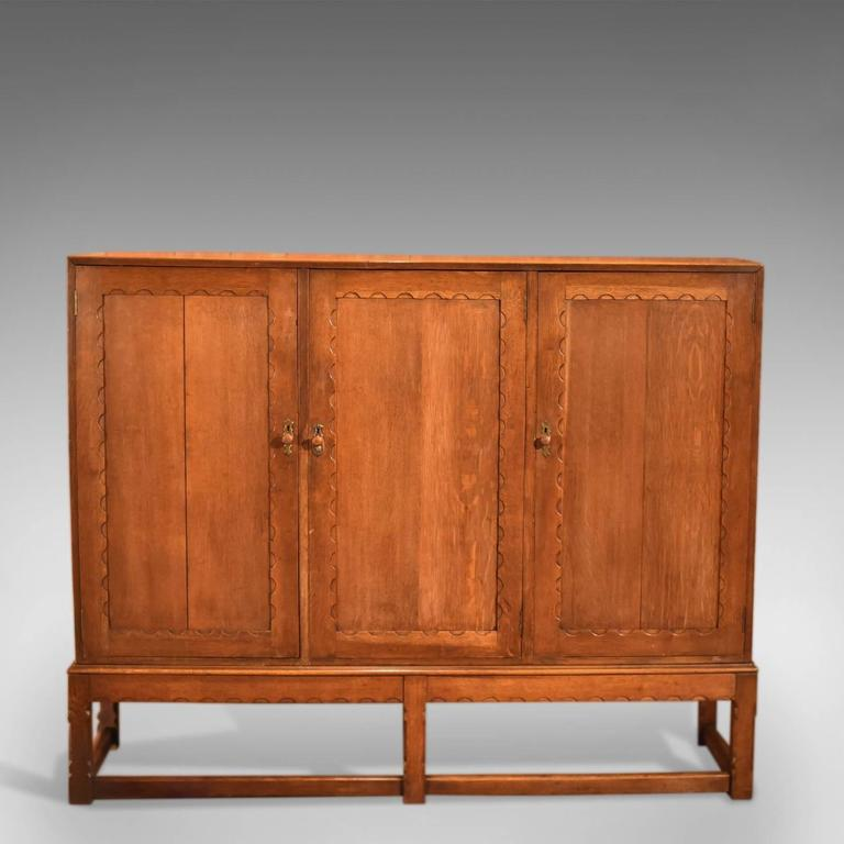 Arts And Crafts Oak Larder Antique Cabinet Circa 1900 For