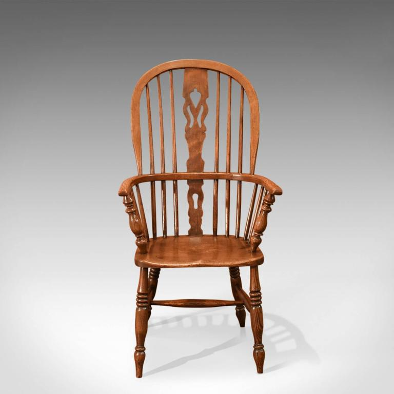 British Antique Windsor Stick Back Chair, Victorian, Circa 1870 For Sale