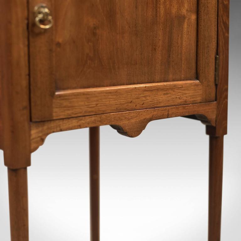 Antique Bedside Cabinet, Georgian Pot Cupboard Nightstand 1