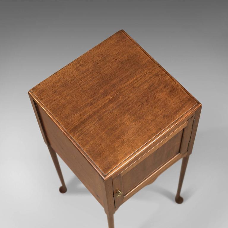 Mahogany Antique Bedside Cabinet, Georgian Pot Cupboard Nightstand
