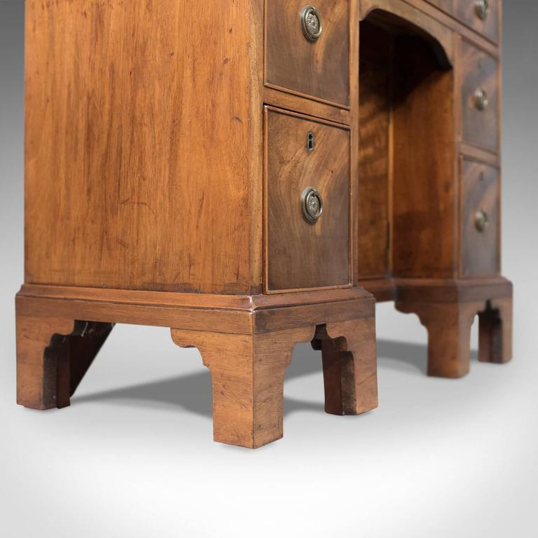 Antique Kneehole Desk, Victorian Knee Hole, circa 1870 3