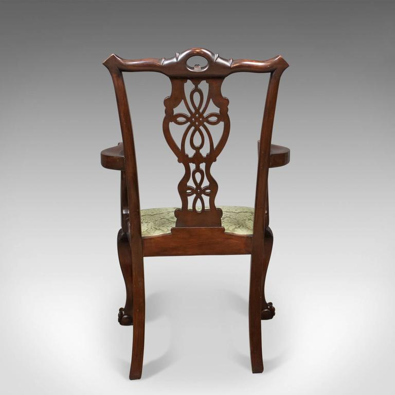 Great Britain (UK) Antique Carver Chair, Victorian Chippendale Revival,  circa 1890 For - Antique Carver Chair, Victorian Chippendale Revival, Circa 1890 For