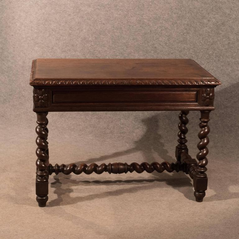 Great Britain (UK) Antique Desk Library Writing Table Side Hall Victorian  English Carved Oak