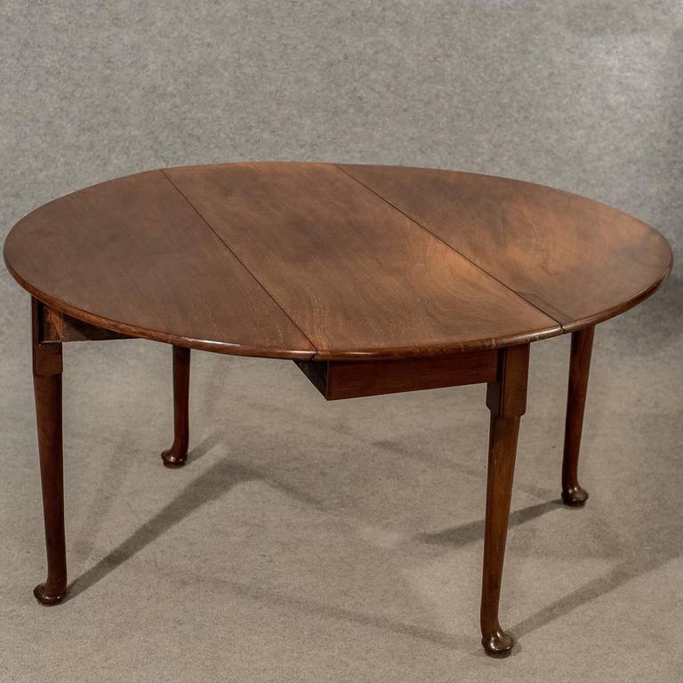 Antique Dining Table Drop Leaf Gate Leg English Georgian Mahogany Circa 1800