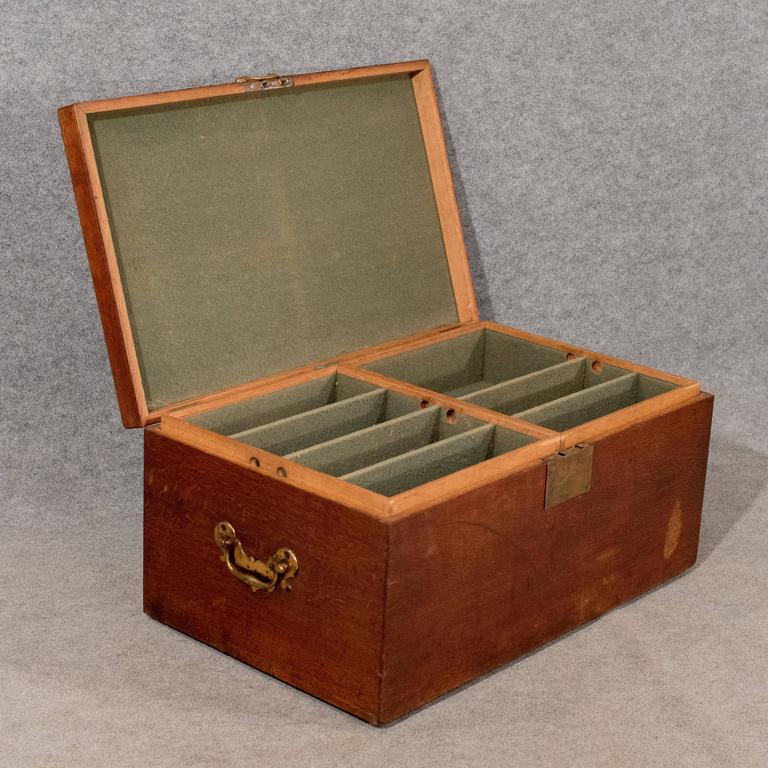Oak silver chest coffer storage trunk blanket box coffee table circa 1900 at 1stdibs Silver trunk coffee table