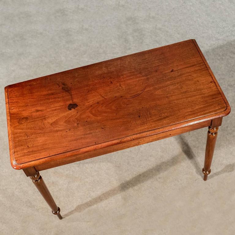 Elegant Foyer Table Lamps : Antique elegant side hall lamp table in mahogany english