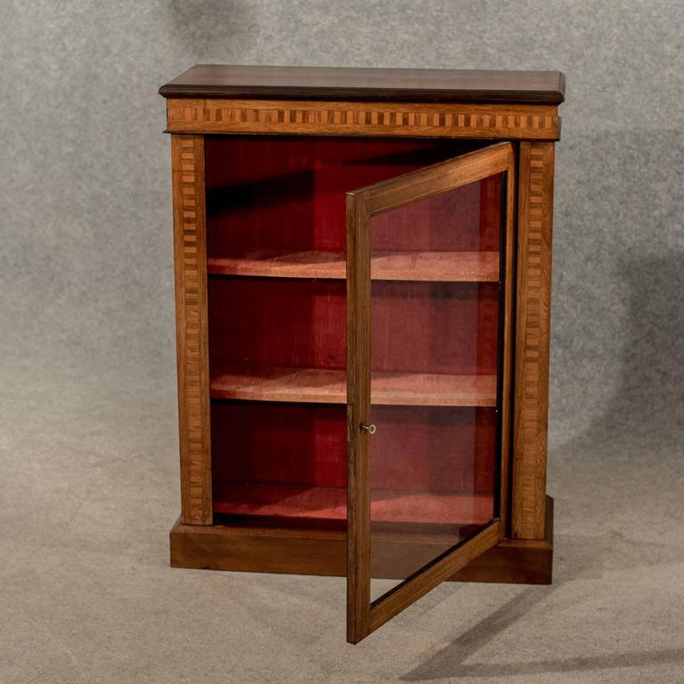 Pier One Furniture Quality: Antique Display Case China Pier Cabinet, Victorian Inlaid