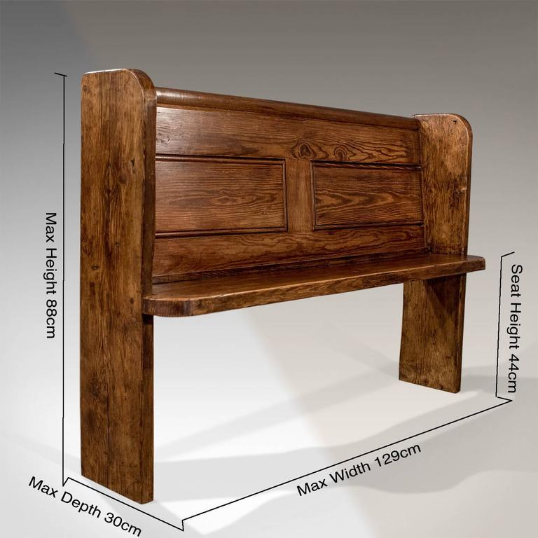 Pew Bench Seating Kitchen Ct: Antique Country Pine Pew Bench, Circa 1900 At 1stdibs