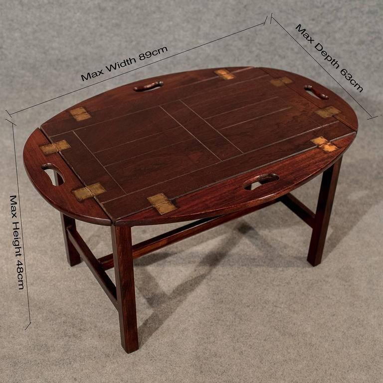 Merveilleux Georgian Antique Butler Tray Stand Coffee Tea Table Quality Mahogany, 20th  Century For Sale