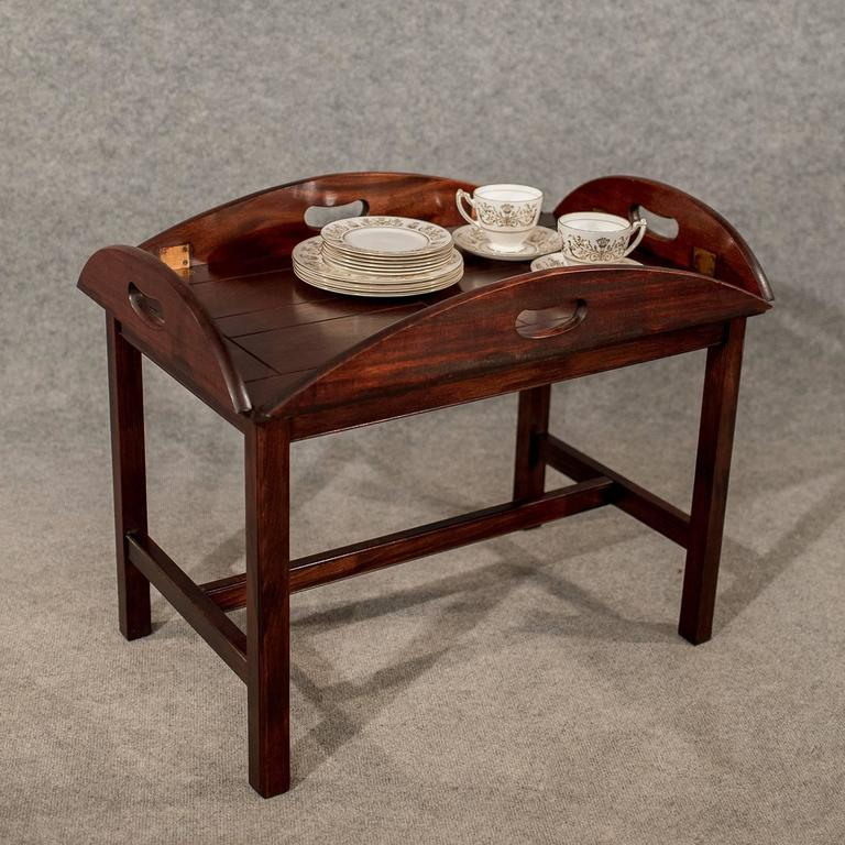 Top 20 Tea Platters: Antique Butler Tray Stand Coffee Tea Table Quality