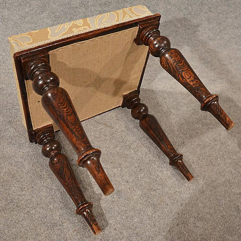 Antique Dressing Music Stool Or Footstool English