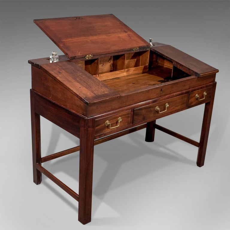 antique english georgian school master 39 s writing desk bureau circa 1800 for sale at 1stdibs. Black Bedroom Furniture Sets. Home Design Ideas