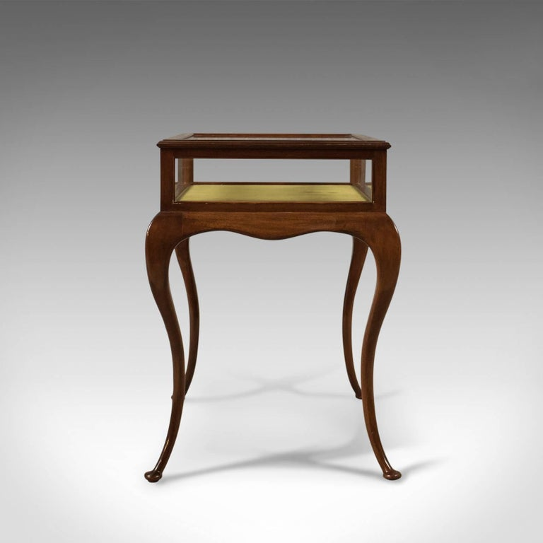 French Provincial Antique Bijouterie Table, George V Display Case, English, circa 1915