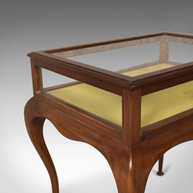 Mahogany Antique Bijouterie Table, George V Display Case, English, circa 1915