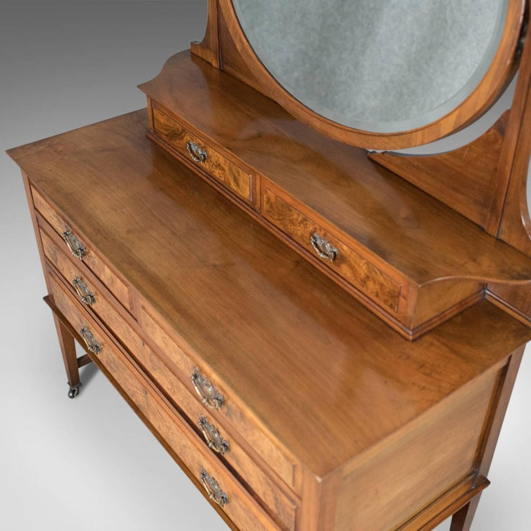 Antique Dressing Table, Edwardian Vanity Chest of Drawers, English, circa 1910 In Excellent Condition In Hele, Devon, GB