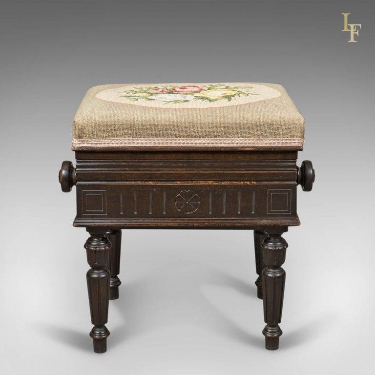 Adjustable Antique Piano Music Stool English Brooks Ltd