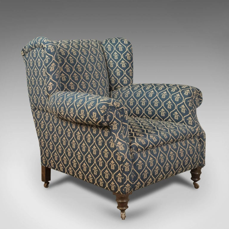 Antique Armchair Edwardian English Club Chair Circa 1910