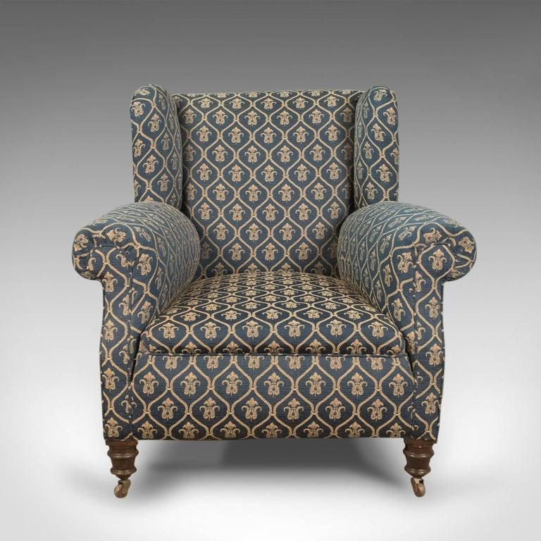 Antique Armchair, Edwardian English Club Chair, circa 1910 In Excellent Condition In Hele, Devon, GB