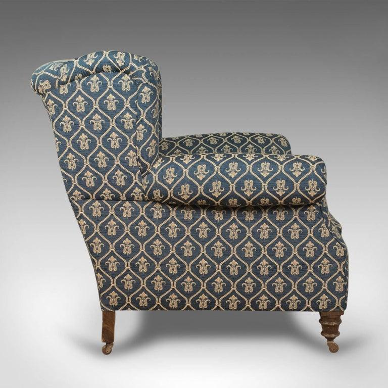 20th Century Antique Armchair, Edwardian English Club Chair, circa 1910