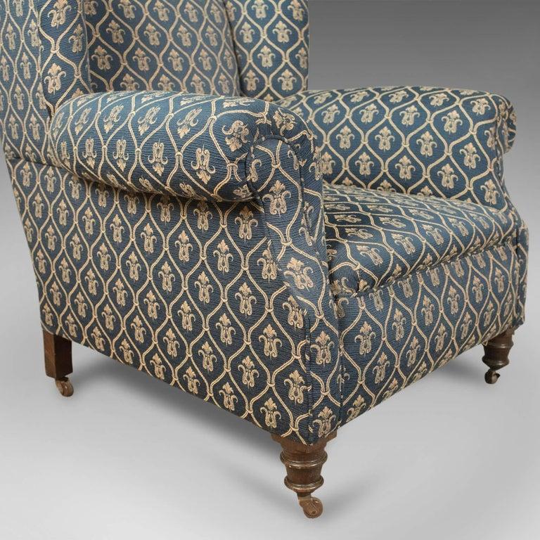 Antique Armchair, Edwardian English Club Chair, circa 1910 1