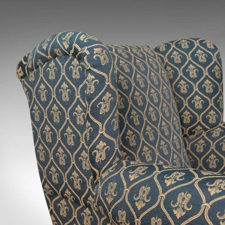 Upholstery Antique Armchair, Edwardian English Club Chair, circa 1910