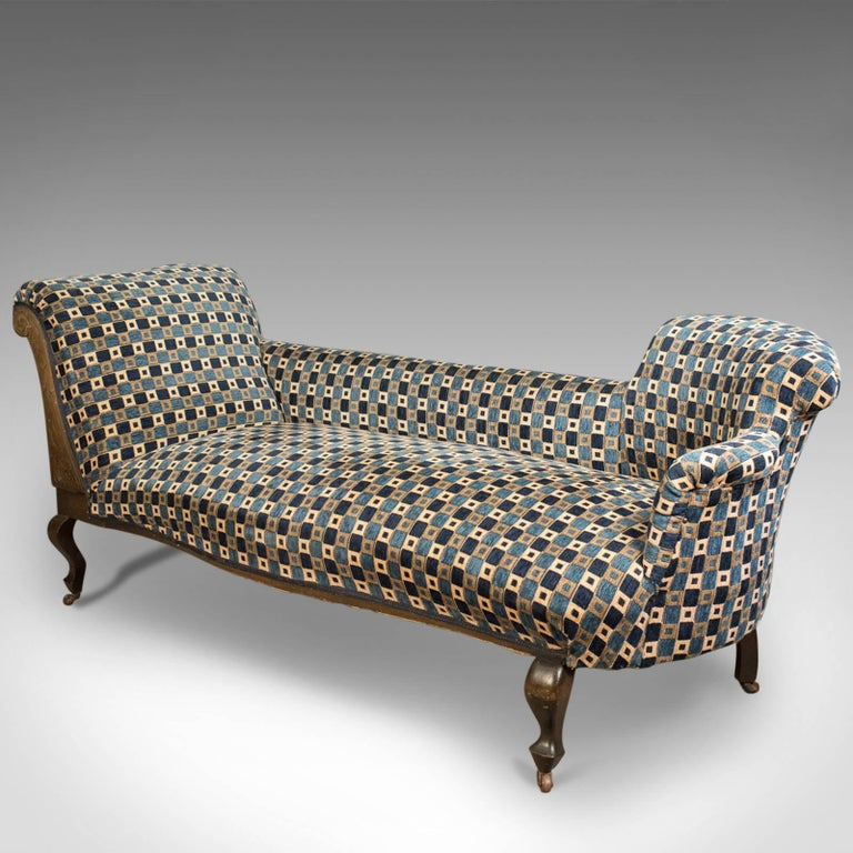 Antique chaise longue edwardian daybed english circa for Antique chaise longue
