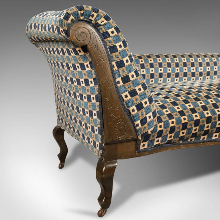 Antique chaise longue edwardian daybed english circa for Antique chaise longue for sale