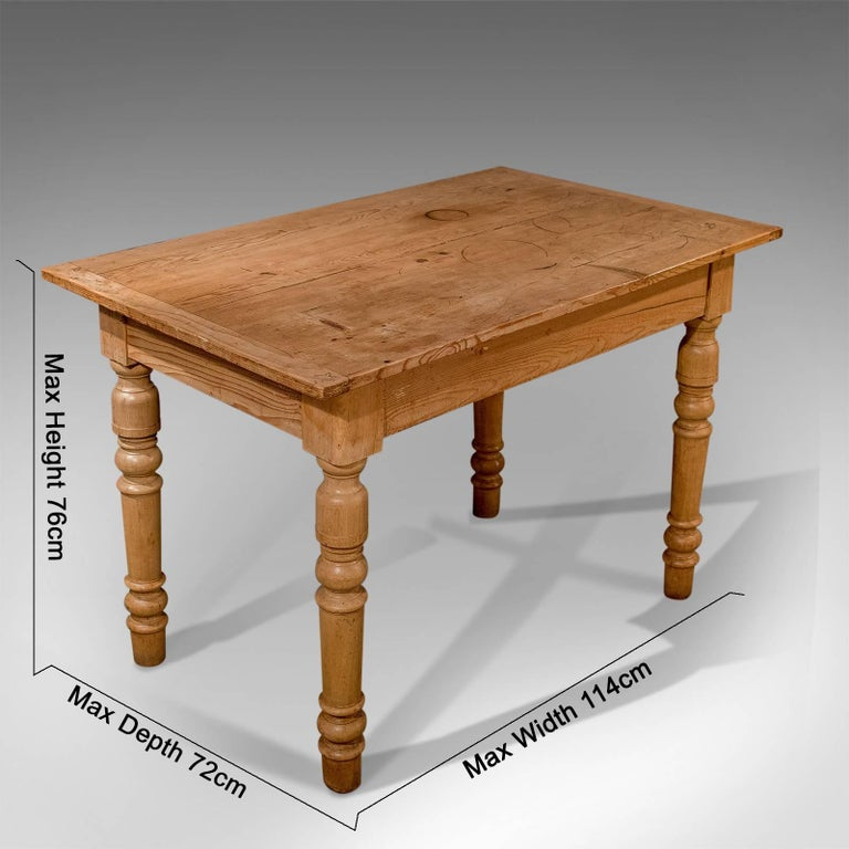 Victorian Pine Kitchen Dining Country Table With Storage