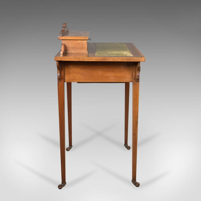 English Edwardian Antique Writing Table Top Quality Desk London England Cooper Holt
