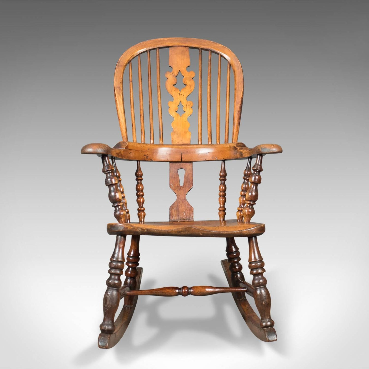 Victorian Antique Windsor Rocking Chair