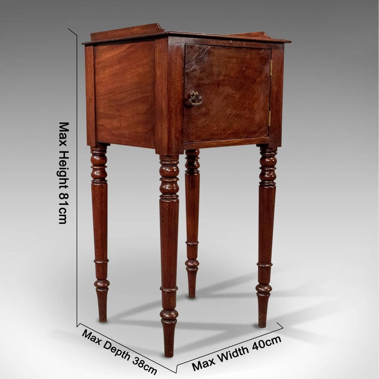 A most pleasing narrow side cabinet presented in good antique condition