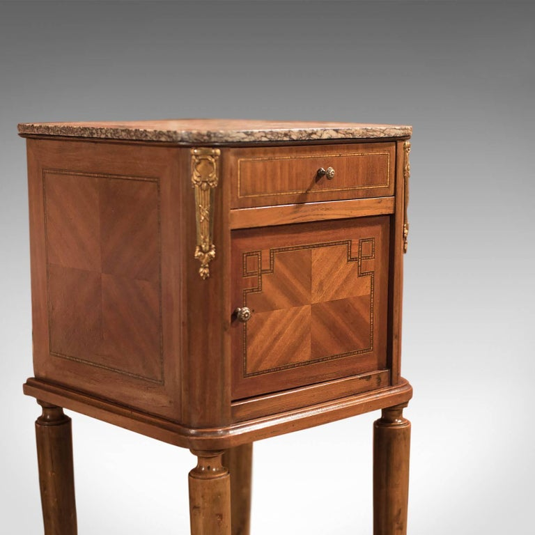 Antique Bedside Table, Mahogany Pot Cupboard, Nightstand, circa 1900 In Good Condition In Hele, Devon, GB