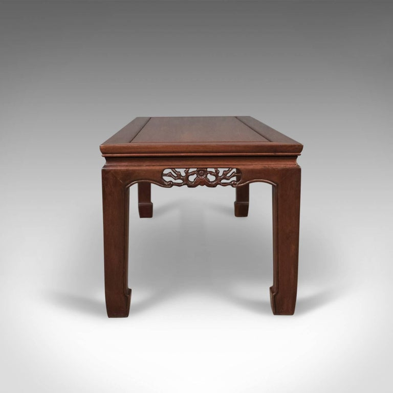Chinese Export Midcentury Rosewood Coffee Table Traditional Form For