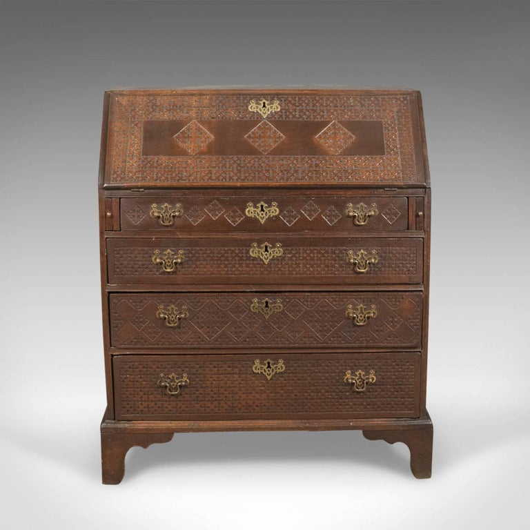 georgian antique bureau english oak writing desk circa 1800 at 1stdibs. Black Bedroom Furniture Sets. Home Design Ideas