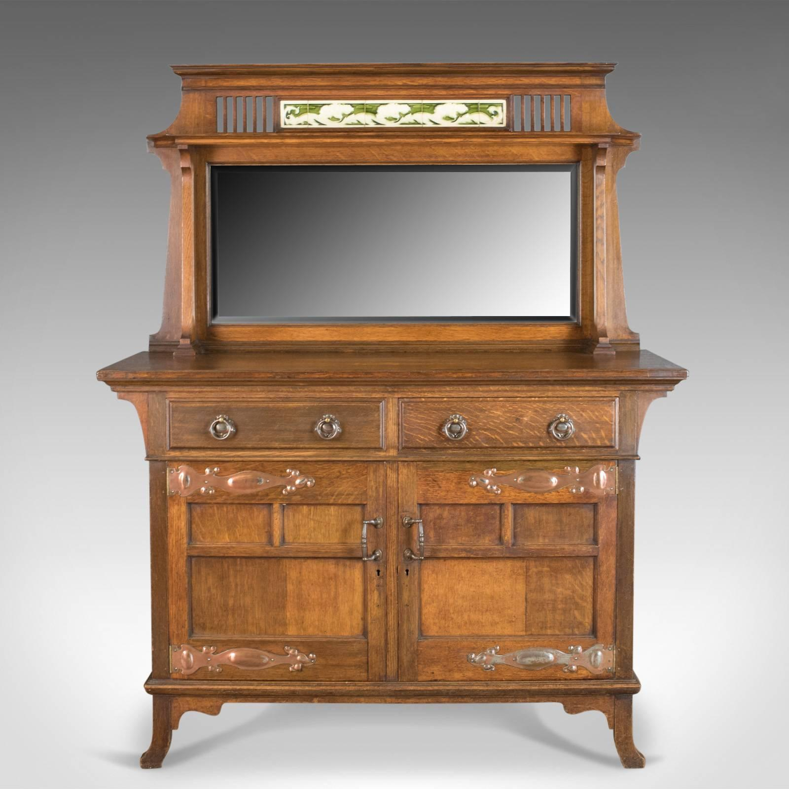 This is an antique sideboard an English oak Arts u0026 Crafts cabinet in : arts and crafts cabinet - Cheerinfomania.Com