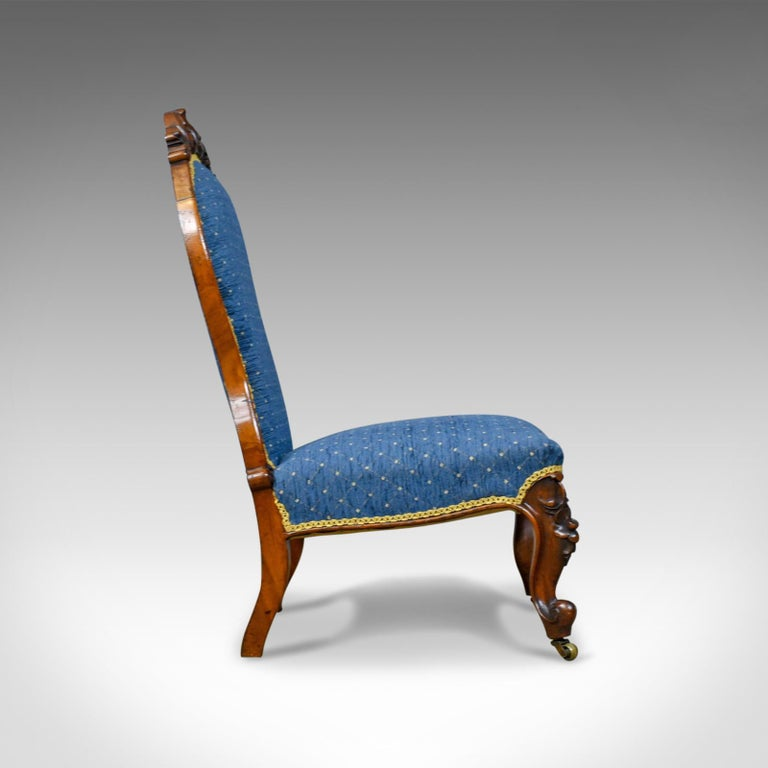Antique Salon Chair, English, Early Victorian, Walnut, Nursing, circa 1840  In - Antique Salon Chair, English, Early Victorian, Walnut, Nursing