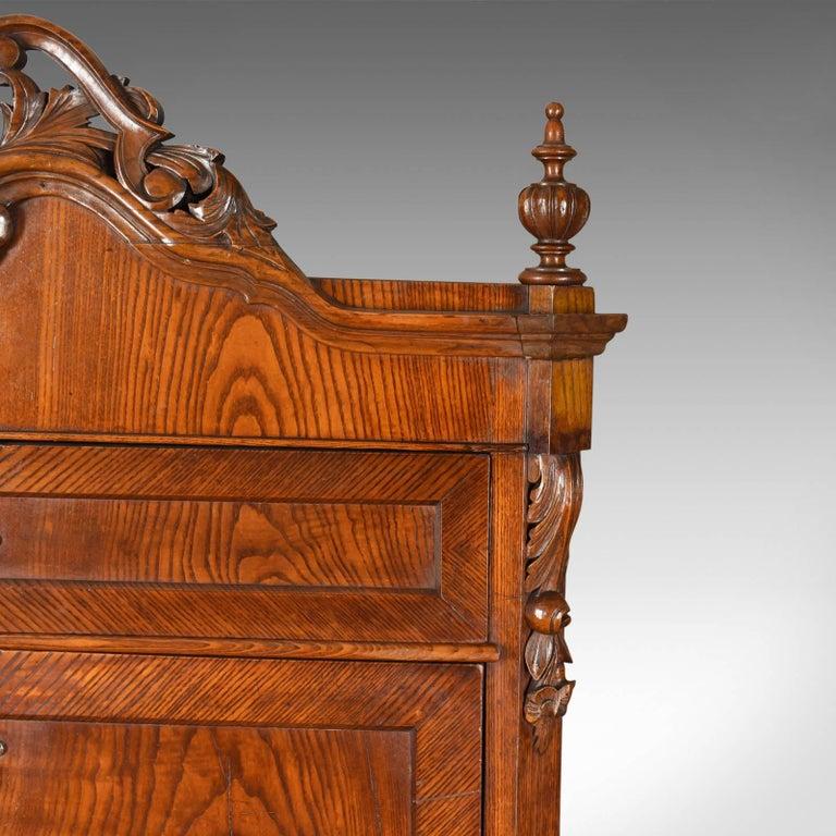 Antique Bureau Desk, French, Escritoire, Oak, 19th Century, circa 1870 5