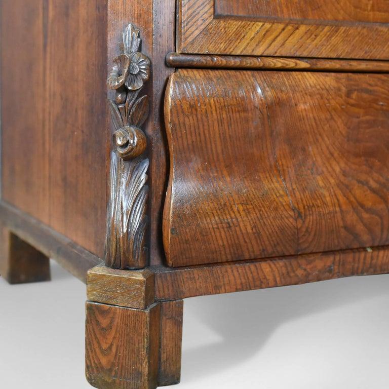 Antique Bureau Desk, French, Escritoire, Oak, 19th Century, circa 1870 7