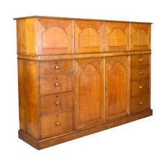 Large Antique Estate Manager's Cupboard, Oak, English Victorian Cabinet