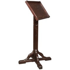 Antique Lectern in Pitch Pine, English Book Rest, circa 1900