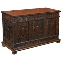 Antique Coffer, French Walnut, circa 1800