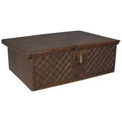 Antique Bible Box, English Oak Chest, circa 1700