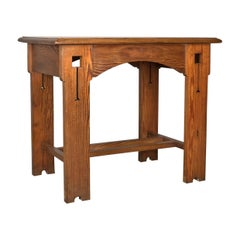 Antique Console Table, English, Arts & Crafts, Victorian, Pine, Side, circa 1880