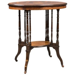 Antique Side Table, Victorian Rosewood, English, circa 1880