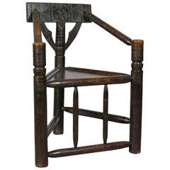 Antique Turners Chair, Victorian, Scottish, Oak, circa 1900