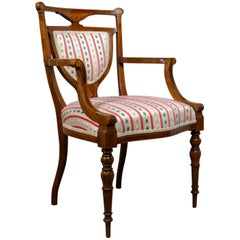 Antique Elbow Chair Rosewood English Open Armchair Maple & Co, circa 1910