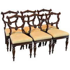 Set of Six Antique Chairs, Rosewood, William IV, circa 1835