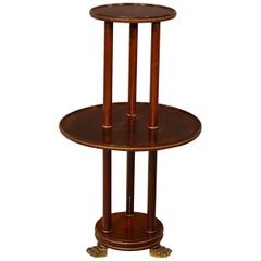 Display Table Dumb Waiter Jardinière Stand Torchere Empire Style, circa 1880