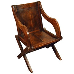 Oak Glastonbury Study Desk Elbow Country Chair Quality Armchair, circa 1900